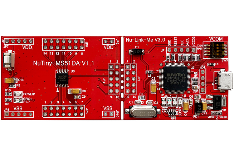 新唐NuTiny-MS51DA 开发板